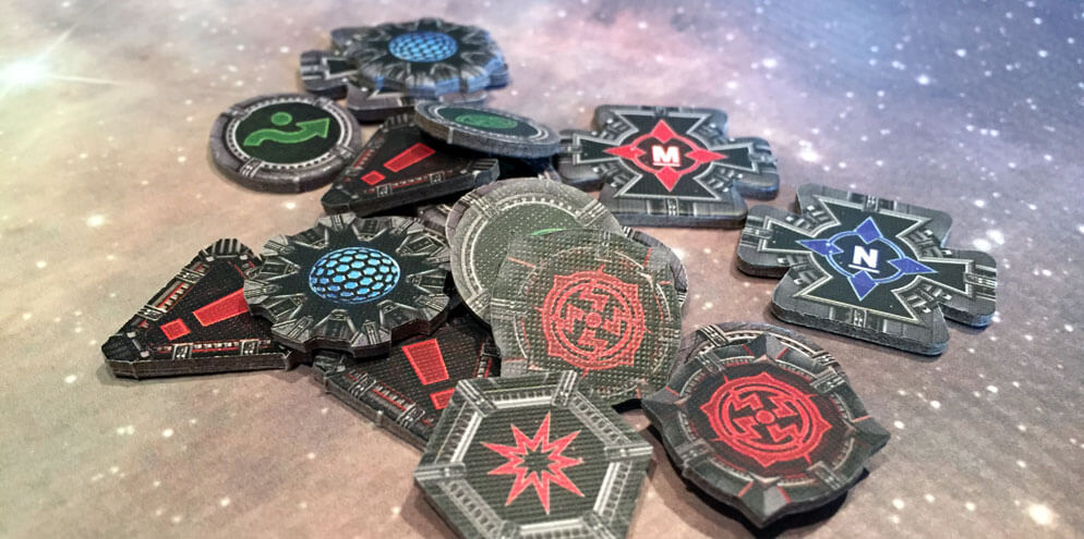 A pile of X-Wing tokens